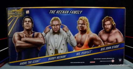 Mattel WWE Heenan Family set action figures review -box set rear