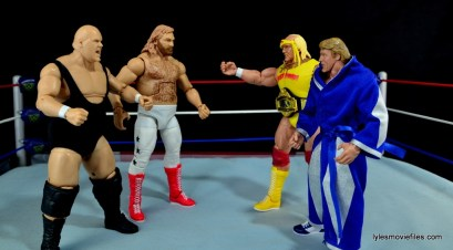 Mattel WWE Heenan Family set action figures review -Bundy and Studd vs Hogan and Orndorff