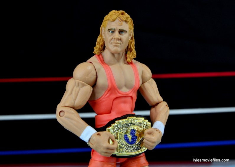 Mattel WWE Heenan Family set action figures review - Mr. Perfect and Intercontinental title