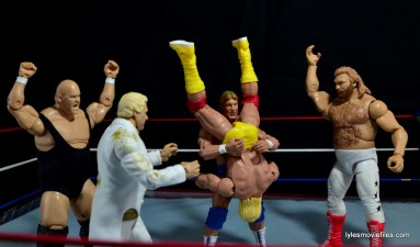 Mattel WWE Heenan Family set action figures review -Paul Orndorff turns on Hogan with Heenan Family