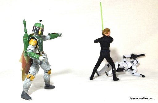 SH Figuarts Luke Skywalker figure review - Boba Fett taking aim