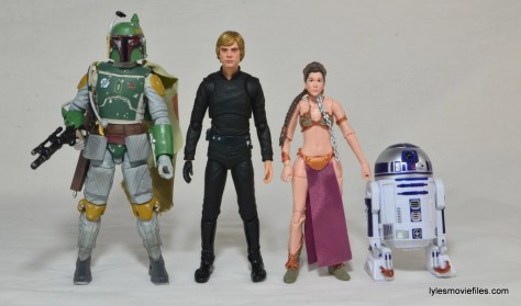 SH Figuarts Luke Skywalker figure review - scale with Boba Fett, Slave Leia and R2D2