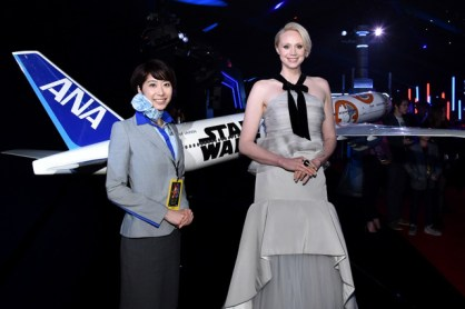 """HOLLYWOOD, CA - DECEMBER 14: Actress Gwendoline Christie attends the World Premiere of """"Star Wars: The Force Awakens"""" at the Dolby, El Capitan, and TCL Theatres on December 14, 2015 in Hollywood, California. (Photo by Mike Windle/Getty Images for Disney) *** Local Caption *** Gwendoline Christie"""