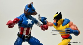 Marvel Legends Captain America review -Cap Wolf face off with Wolverine
