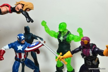 Marvel Legends Captain America review -Ms. Marvel, Black Panther and Cap vs Radioactive Man and Baron Zemo