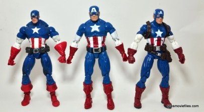 Marvel Legends Captain America review -boxset, Face Off Cap comparison