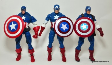 Marvel Legends Captain America review -carrying shield Face Off, 3pack set