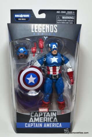 Marvel Legends Captain America review -front package