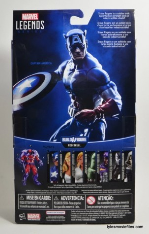 Marvel Legends Captain America review - rear package