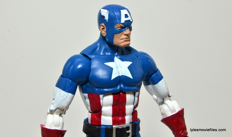 Marvel Legends Captain America review -side portrait
