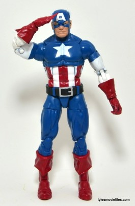 Marvel Legends Captain America review -straight ahead saluting