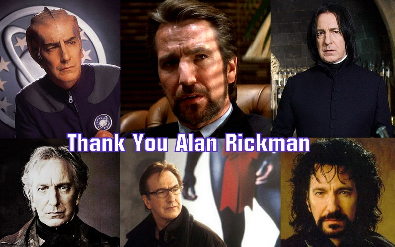 RIP Alan Rickman roles
