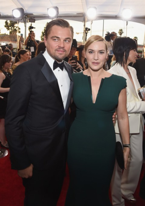 LOS ANGELES, CA - JANUARY 30: Actors Leonardo Dicaprio and Kate Winslet attend The 22nd Annual Screen Actors Guild Awards at The Shrine Auditorium on January 30, 2016 in Los Angeles, California. 25650_014 (Photo by Larry Busacca/Getty Images for Turner) *** Local Caption *** Leonardo Dicaprio, Kate Winslet