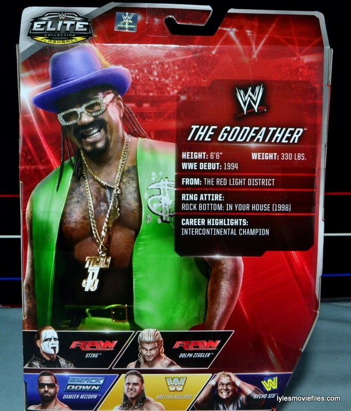 WWE The Godfather figure review - Mattel | Lyles Movie Files