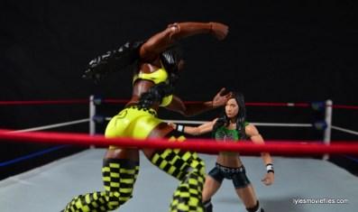 WWE Mattel Basic Naomi figure review -diving at AJ Lee
