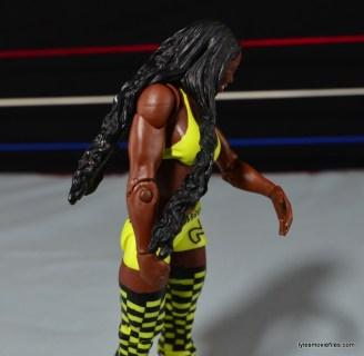 WWE Mattel Basic Naomi figure review -hair close up