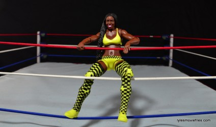 WWE Mattel Basic Naomi figure review -on ropes