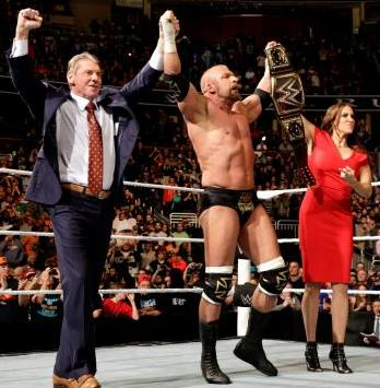 WWE Royal Rumble 2016 - vince mcmahon, triple h and stephanie mcmahon