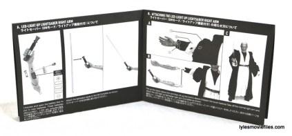 Hot Toys Obi-Wan Kenobi figure review - instructions 2