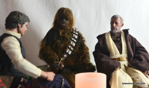 Hot Toys Obi-Wan Kenobi figure review -sitting with Han Solo and Chewbacca