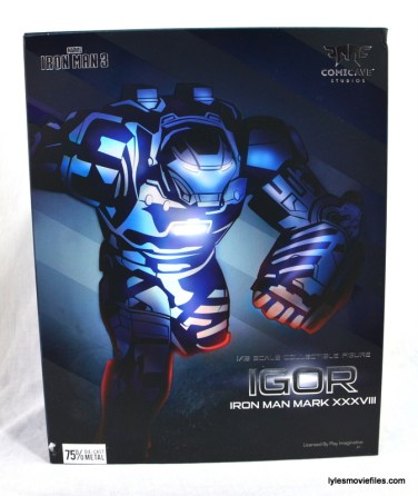 Iron Man 3 Igor Comicave Studios figure review - front package