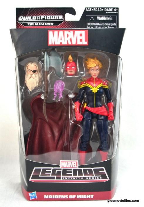 Marvel Legends Captain Marvel figure review - front package