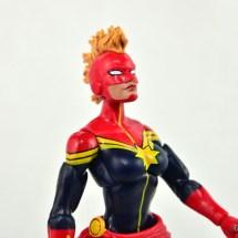 Marvel Legends Captain Marvel figure review - masked head