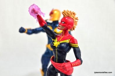 Marvel Legends Captain Marvel figure review - ready for battle with Nova