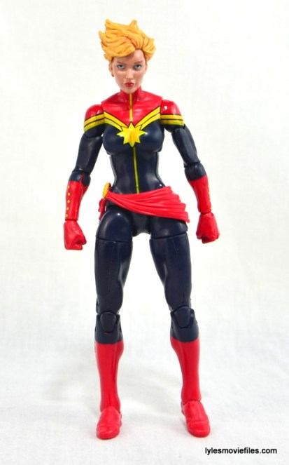 Marvel Legends Captain Marvel figure review - straight