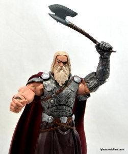 Marvel Legends Odin and King Thor review - King Thor raising axe