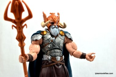 Marvel Legends Odin and King Thor review - Odin arms out