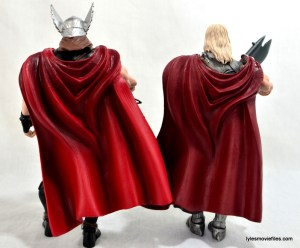 Marvel Legends Odin and King Thor review - Thor and King Thor rear