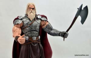 Marvel Legends Odin and King Thor review - waving ax