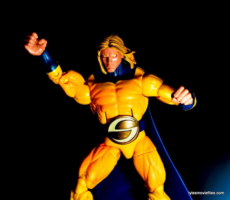 Marvel Legends Sentry figure review - sun lit