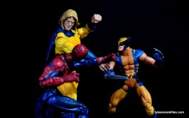 Marvel Legends Sentry figure review - vs Spider-Man and Wolverine