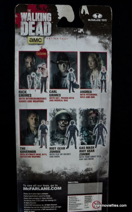 The Walking Dead Andrea figure review - back package