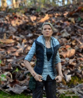 The Walking Dead Andrea figure review - vest on close up