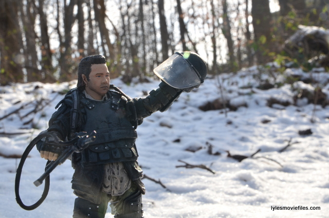 the walking dead eugene figure - holding helmet
