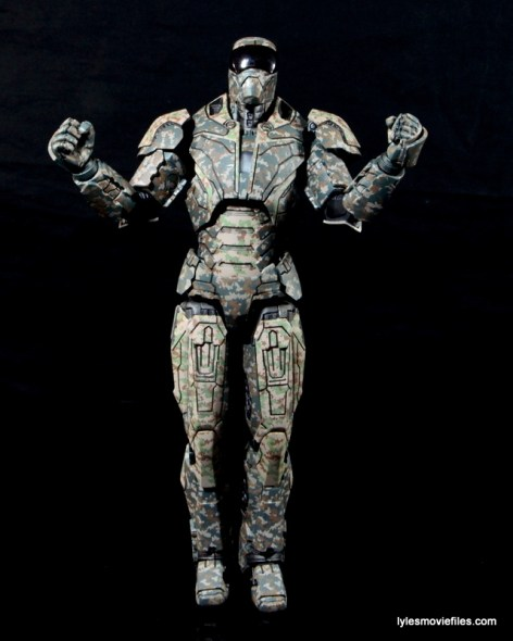 Comicave Studios Iron Man Shades figure review - elbows up