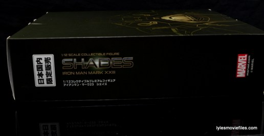 Comicave Studios Iron Man Shades figure review - side package