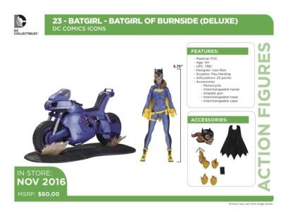 DC Icons Batgirl accessories