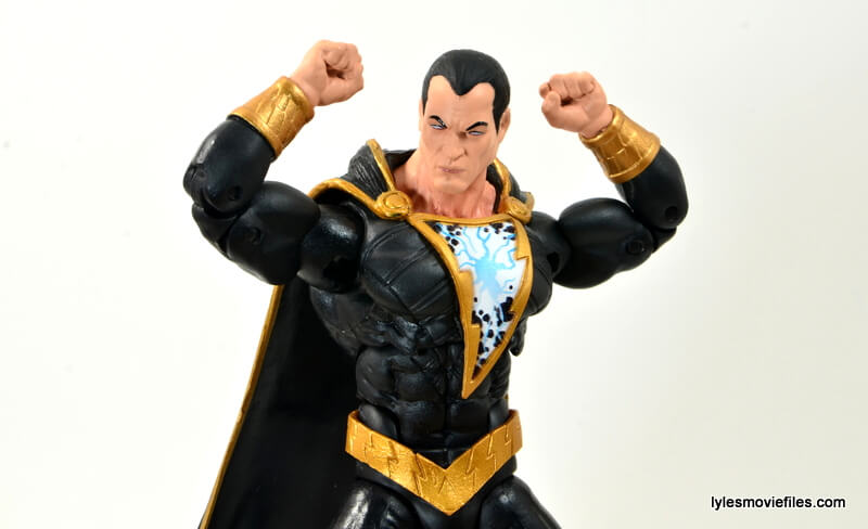 DC Icons Black Adam review - flexing
