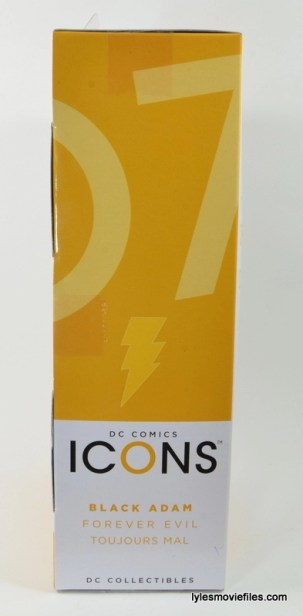 DC Icons Black Adam review - side package