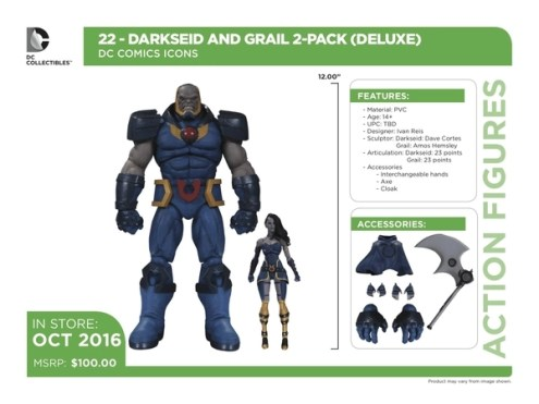 DC Icons Darkseid and Grail accessories