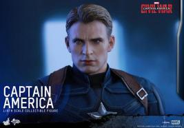 Hot Toys Captain America Civil War Captain America figure -unmasked