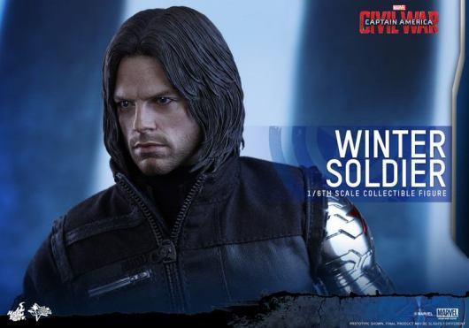 Hot Toys Captain America Civil War Winter Soldier figure -head closeup