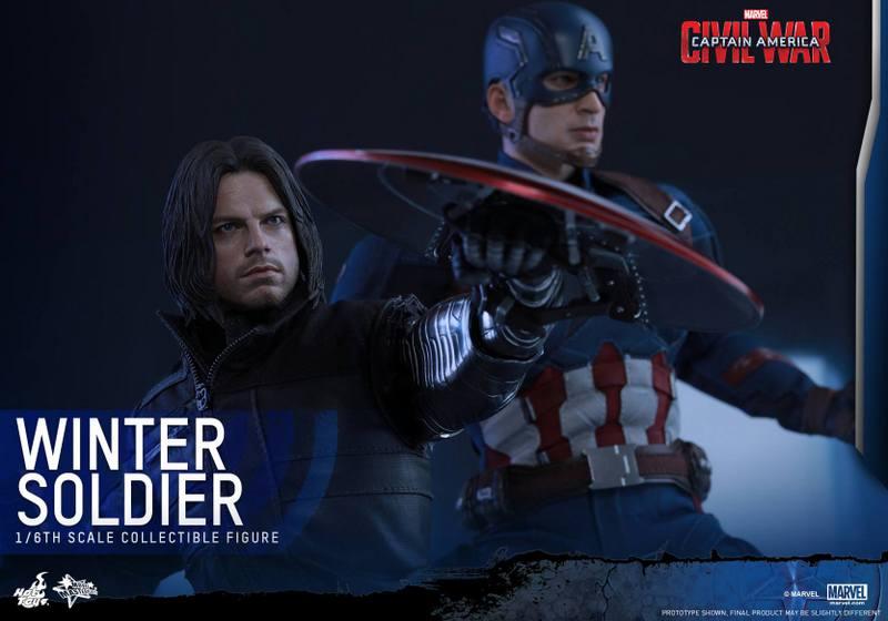Hot Toys Captain America Civil War Winter Soldier figure -with Cap