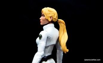 Marvel Legends Sharon Carter figure review - ponytail detail