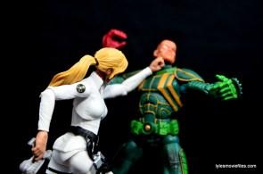 Marvel Legends Sharon Carter figure review - punching Baron Von Strucker