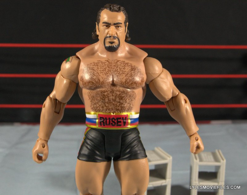Mattel WWE Lana and Rusev Battle Pack -close up Rusev